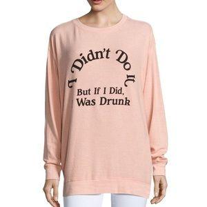 Wildfox Oversized Drunk Peach Jumper Sweater